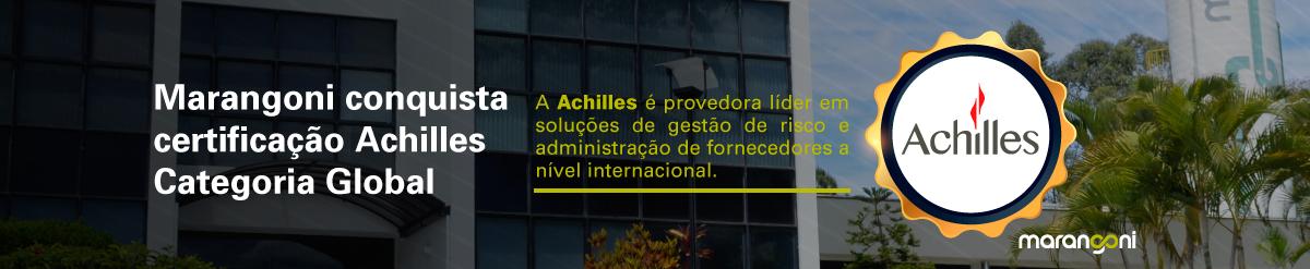 Marangoni conquista certificação Achilles Categoria Global